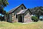 The original Settlers Church on this site was opened in 1827. This church was destroyed by fire during the Frontier War of 1835 and thereafter rebuilt. It was again seriously damaged by the Xhosas in 1846. The church was built in 1823 by the Settlers themselves. Type of site: Church.