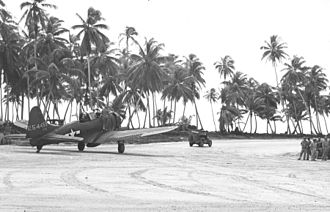531st Tactical Fighter Squadron - Squadron A-24B on Makin Island