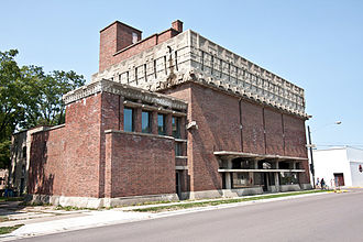 Richland Center, Wisconsin - Frank Lloyd Wright's A.D. German Warehouse, view from South East