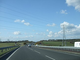 A22 road - Image: A22 road, near Eastbourne