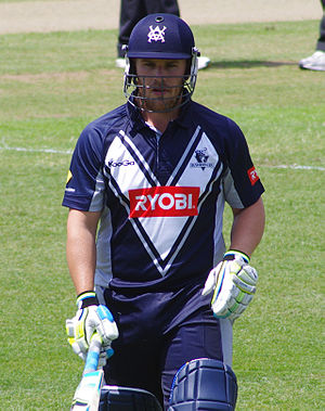 Aaron Finch - Finch playing for Victoria in 2011.