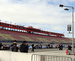 Main Grandstand From Pit Road At Auto Club Sdway