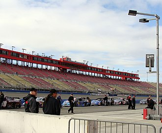 Auto Club Speedway - Main Grandstand From Pit Road at Auto Club Speedway