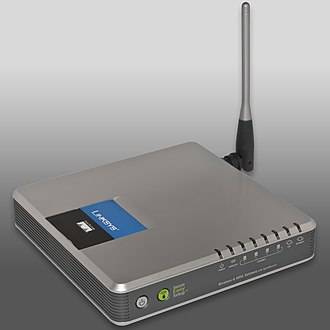 Wireless security - An example wireless router, that can implement wireless security features