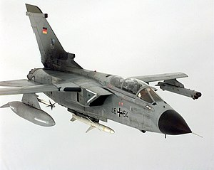 Radar jamming and deception - German Luftwaffe Tornado ECR (Electric Combat / Reconnaissance). This fighter specializes in electronic warfare.