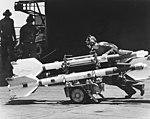 AIM-9 Sidewinder missiles on USS Hancock (CVA-19) 1967.jpg