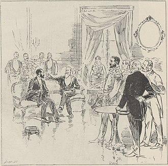 Marie François Sadi Carnot - Image: AIX LES BAINS. — Visite du Président Carnot a l'Empereur du Brésil. — (Dessin de M. Parys)