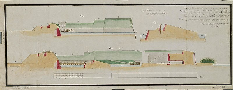 File:AMH-2601-NA Elevations of the fortifications to the west and south of Cochin.jpg
