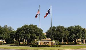 Angelo State University - Main entrance to Angelo State University