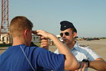 A Civil Air Patrol 2nd Lt. from the Oklahoma Wing teaches salute.JPG