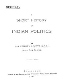 A Short History of Indian Politics.djvu
