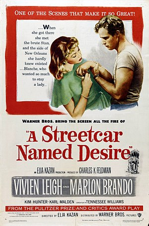 Bill Gold - Gold's original theatrical release poster for A Streetcar Named Desire (1951)