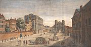 A View of Whitehall, looking south, 1740