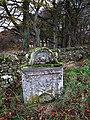 A gravestone at an old burial ground near Cranshaws Farm - geograph.org.uk - 1588618.jpg