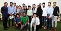 A group of students from Jammu and Kashmir studying in other states, in a group photograph at the residence of the Union Home Minister, Shri Rajnath Singh, in New Delhi on September 08, 2016.jpg