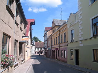 Kandava Town in Kandava Municipality, Latvia