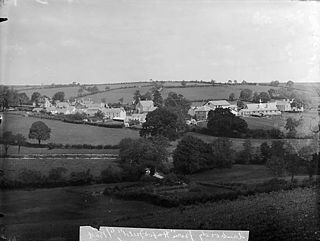 Llanboidy village in Wales