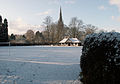 A view of St Wulfram's Church, Grantham from playing field - Dec 2005.JPG