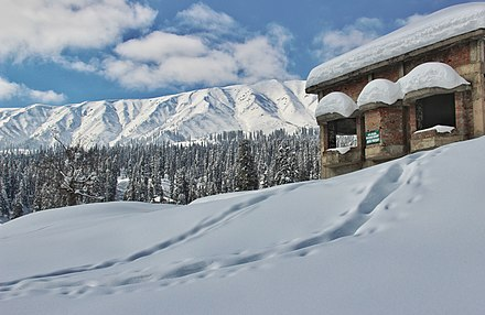 An abandoned GOI hotel structure in Gulmarg