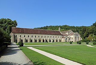 Abbey of Fontenay abbey located in Côte-dOr, in France