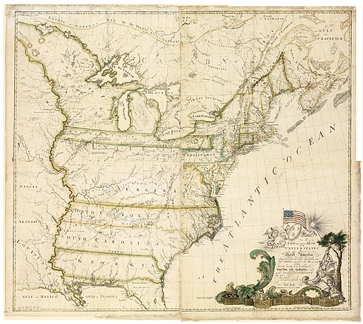 Abel Buell Map of the United States of North America 1783 (four sheets stitched together)