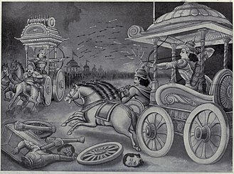 Abhimanyu - Abhimanyu showing his talent in Battle