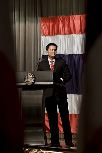 Abhisit Vejjajiva - Abhisit at the Government House in 2009