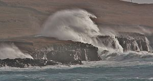 Storm Abigail - Waves batter Shetland during Storm Abigail (13 November)