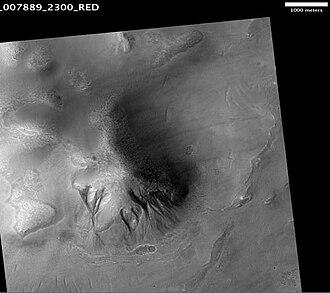 Mare Acidalium quadrangle - Image: Acidalia Colles Gullies
