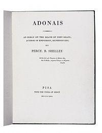 Adonaïs cover