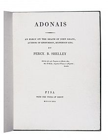 Frontespizio dell'Adonaïs di Shelley