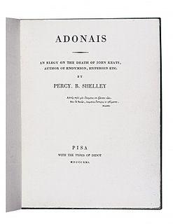 <i>Adonais</i> 1821 poem written by Percy Bysshe Shelley
