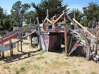 Adventure Playground (Berkeley) - Play structure in the Adventure Playground