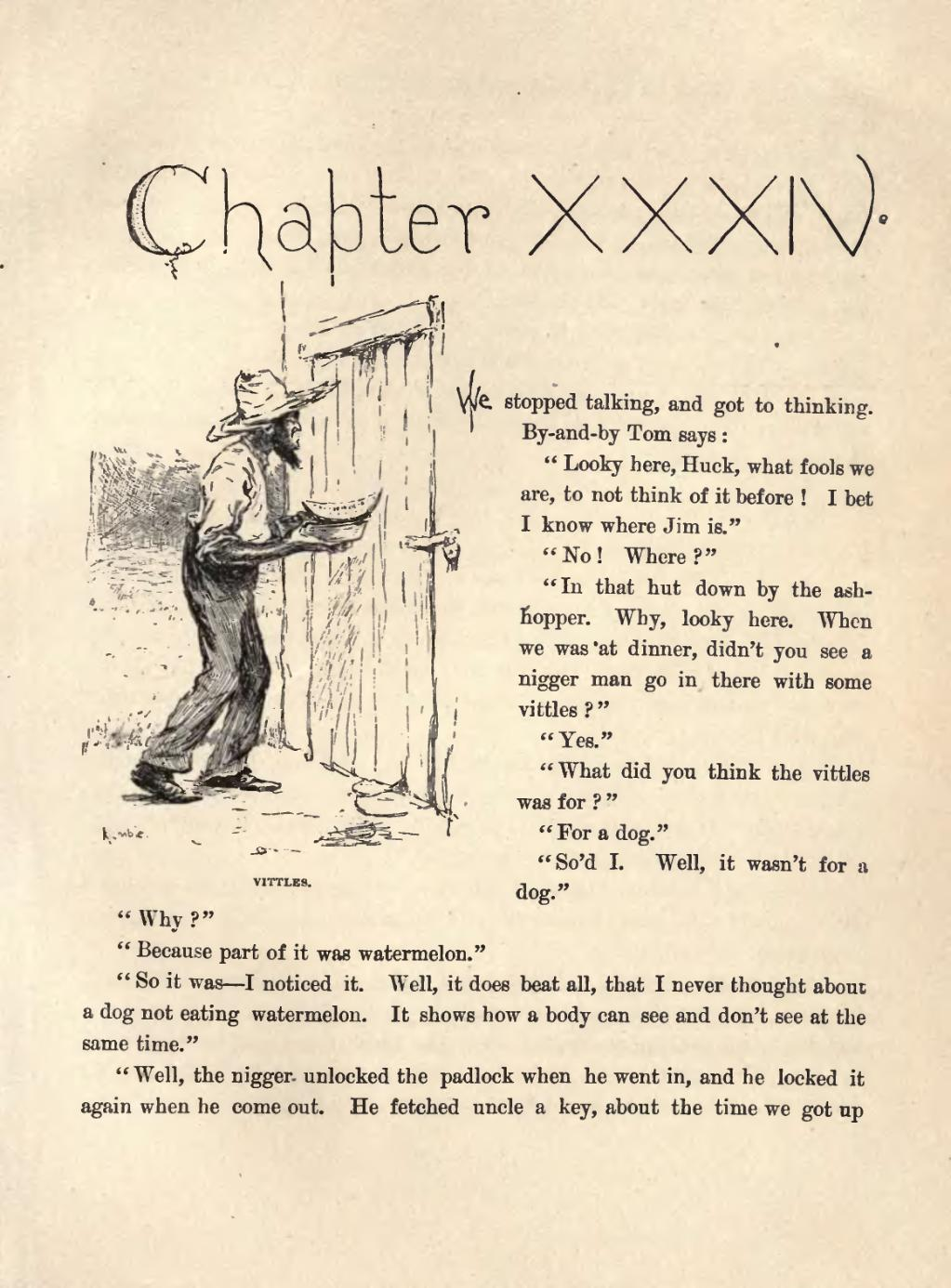 personal thoughts on the adventures of huckleberry finn Find the quotes you need in mark twain's the adventures of huckleberry finn, sortable by theme, character, or chapter from the creators of sparknotes.