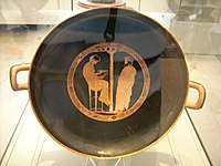 Aegeus consults the Pythia Attic red-figured kylix by the Kodros painter Antikensammlung Berlin.jpg
