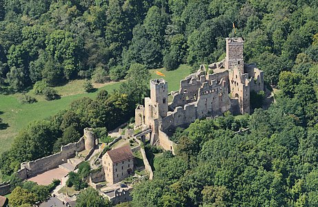 Lörrach, Germany: aerial view of Rötteln Castle