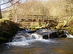 Afon Crawnon - Footbridge over Afon Crawnon