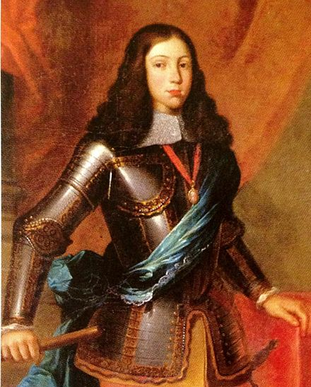 Afonso VI of Portugal's reign was managed by the Count of Castelo Melhor. Afonso VI, Rei de Portugal.JPG
