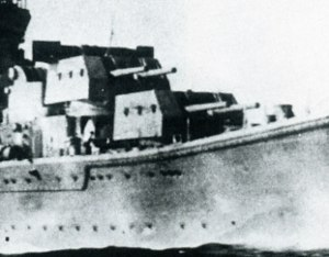 15 cm/50 41st Year Type - Twin turrets on ''Agano'', October 1942
