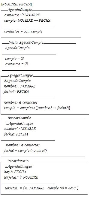 Z notation - An example of a formal specification (in Spanish) using the Z notation.
