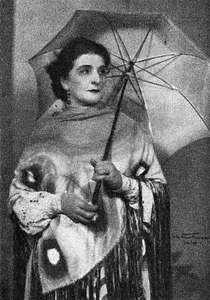 Agnes Mowinckel - Mowinckel as Ellida Wangel in Ibsen's The Lady from the Sea at Balkongen, 1928