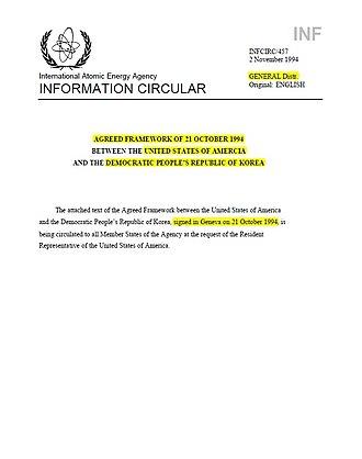 Agreed Framework -  AGREED FRAMEWORK COVER PAGE – IAEA