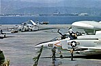 Aircraft of Carrier Air Wing 15 at Naval Air Station Alameda, in 1974.jpg
