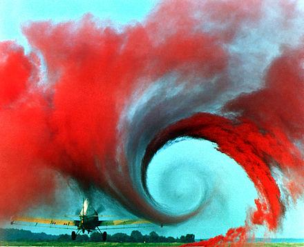 Airplane vortex edit., From WikimediaPhotos