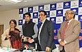 Ajay Maken presenting the cash award to Shri Abhinav Bindra under cash award scheme for winning Gold Medal at 12th Asian Shooting Championship, in New Delhi on January 18, 2012.jpg