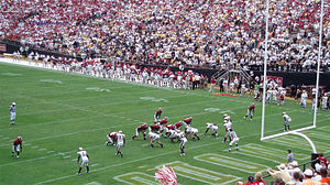 Alabama Crimson Tide football under Nick Saban - Alabama attempts a two-point conversion in their 24–10 victory at Vanderbilt on September 8, 2007.