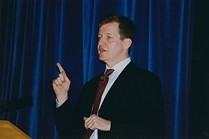 Alastair Campbell - Campbell lecturing at the LSE series 'From Kennedy to Blair,' 7 July 2003