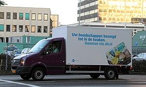 Albert Heijn - An AH.nl delivery truck in Zaandam.