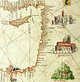 Albino de Canepa. The east of 1489 Portolan Chart. From the Black Sea at the top to the Red Sea at the bottom.G.jpg