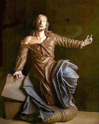 Brazilian sculpture - Aleijadinho: Christ Praying, 1796–1808. Bom Jesus de Matosinhos Sanctuary